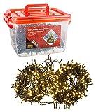 Idena 31090 - LED Lichterkette mit 600 LED in warm weiß, mit 8 Stunden Timer Funktion, für Partys, Weihnachten, Deko, Hochzeit, als Stimmungslicht, ca. 50 m