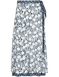 Weird Fish Shana Reversible Printed Midi Wrap Skirt