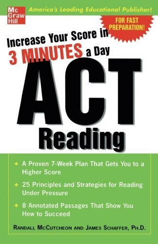 Increase Your Score In 3 Minutes A Day: ACT Reading by Randall McCutcheon (2005-07-06)