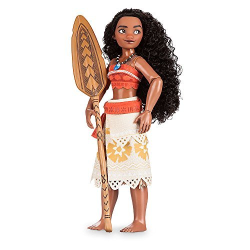 Official Disney Moana 28cm Classic Doll With Foldable Boat 0033504376593