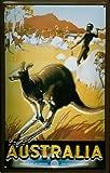 Blechschild Nostalgieschild Australien Känguruh Australien retro schild werbeschild