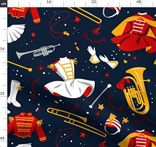 Blaskapelle, Band, Instrument, Musik, Messing, Neuheit, Cheerleader Stoffe - Individuell Bedruckt von Spoonflower - Design von Logan Spector Gedruckt auf Bio Baumwollsatin - Stoff Cheerleader