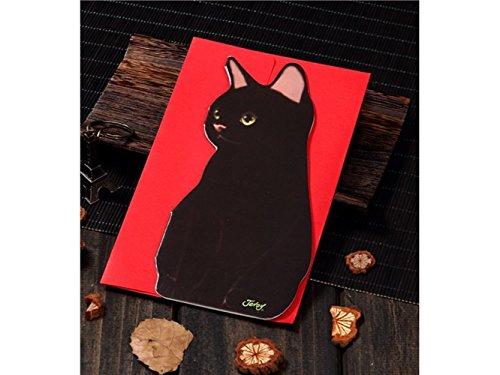 (3D Pop UP Grußkarten 1 pc Katze Form Grußkarte handgemachte Karte Weihnachten Einladung Geburtstag Karte (schwarze Katze) Jubiläum Einladung Hochzeit)
