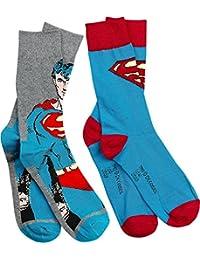 Superman Logo Chaussettes gris/bleu