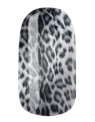 Nagelfolien/Leo Snow 2- selbstklebend mit individuellen Designs by Glamstripes- made in Germany. 12 Nail Wraps äußerst strapazierfähig mit langer Haltedauer