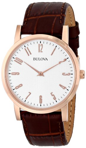 bulova-dress-mens-quartz-watch-with-off-white-dial-analogue-display-and-brown-leather-strap-97a106