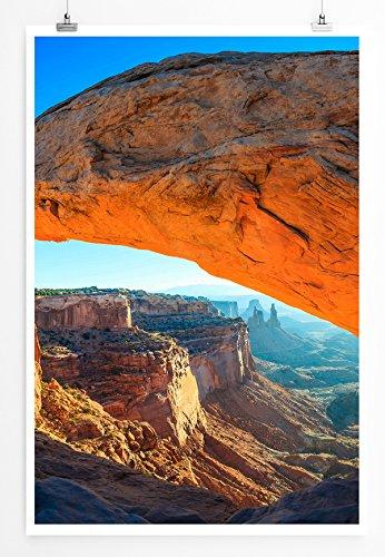Mesa Wallpaper (Best for home Artprints - Art - Mesa Bogen bei Sonnenaufgang- Fotodruck in gestochen scharfer Qualität)
