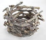 Holz Pflanz-Nest mit Kunststoff-Einsatz 2 Stück C