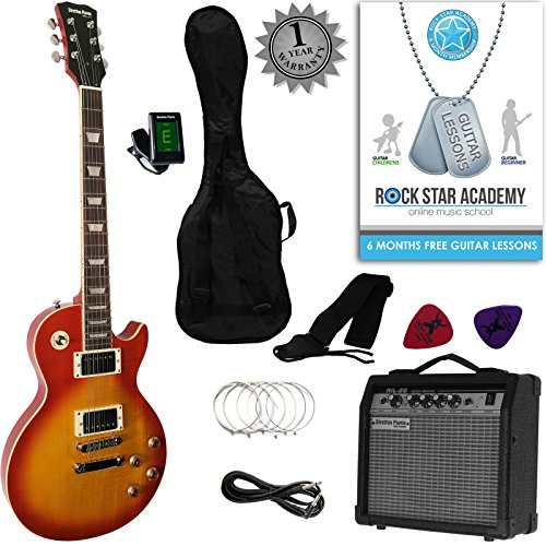 stretton-payne-lp-style-electric-guitar-package-with-amplifier-padded-bag-strap-lead-plectrums-tuner