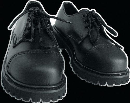Knightsbridge London 3-Loch Size: 8 Gothic Style Steel Toe Boots Stahlkappe schwarz black