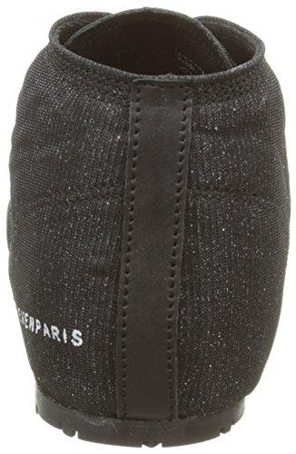 Eleven Paris Basglitter, Chaussures Lacées Femme Noir (Dark)