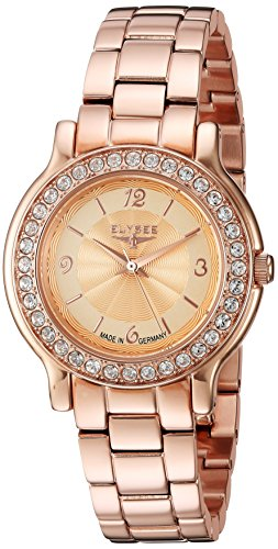 ELYSEE WOMEN'S HELENA 32MM ROSE GOLD-TONE STEEL BRACELET QUARTZ WATCH 28612