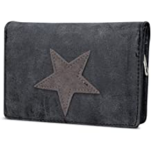 Damen Luxus Canvas Stern Geldbörse Geldbeutel Brieftasche Portemonnaie Damenbörse Börse