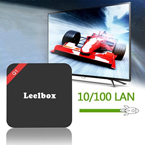 2016 Leelbox Android TV Box Neueste Modell Q1 Android TV BOX Kodi 16,1 Android 5.1 Vorinstallierte RK3229 Quad Core Miracast unterstuetzt 4K * 2K H.265 ,3D, 2.4G Wi-Fi LAN Media Player - 6