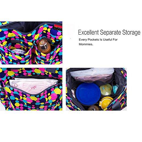 Kangming 5x Multifunktions Polka Dot Mummy wechselnden Handtasche Set Baby Windel Windel Tasche rose