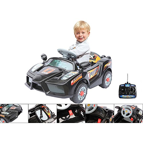 #Ferngesteuertes Elektroauto 6V – elektrischer Ferrari für Kinder – Schwarz#