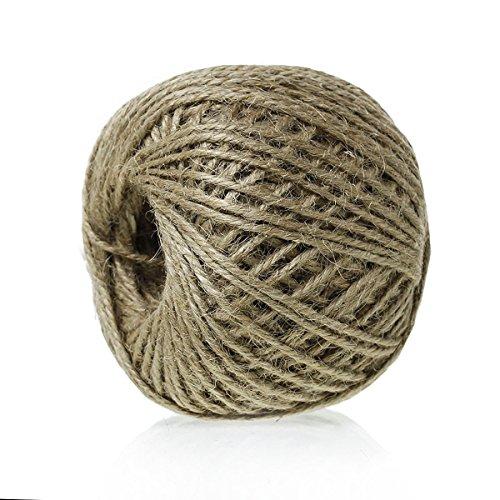 siaura Matériau – 80 m cordon de jute/Ficelle en jute, marron, épaisseur 2 mm