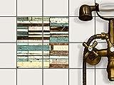 creatisto Fliesendekor, Badfliesen | Fliesenaufkleber Folie Sticker Küche Bad Fliesenposter Kellerfliesen | 10x10 cm Design Motiv Schiffsbruch - 4 Stück
