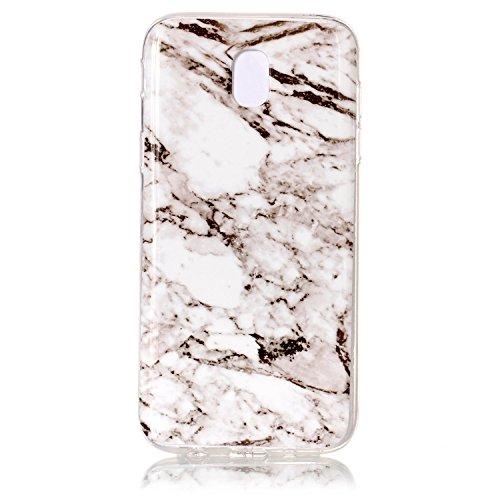Coffeetreehouse Coque Samsung Galaxy J5 2017 Étui protecteur avec motif de marbre,étui mince, Anti-choc TPU silicone Coque pour Samsung Galaxy J5 2017-blanc