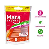Interdentale Spazzole Orange di Mara Expert | 0,45mm ISO 1fine | 12denti dente spazzole per la pulizia degli spazi interdentali | al sapore di menta