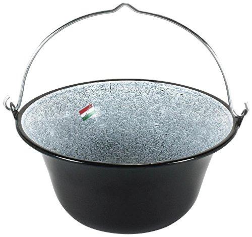 Grillplanet 1001 ungarischer Gulaschkessel 10 Liter emailliert Kesselgulasch Topf