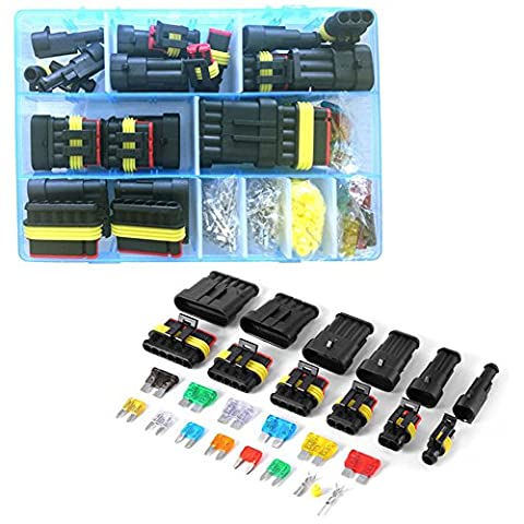 Automotive fusibles avec coque 123456broches de voiture connecteur étanche Plugs terminal Joint en silicone en métal avec kit de fusible