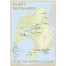 Whisky Distilleries Islay - Tasting Map 24x34cm: Islay - The Whisky-Island