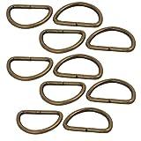 sourcingmap 10 Stück 25mm Innenbreite Eisen Metall Nicht geschweißt Halb Rund D Ring Bronze DE de
