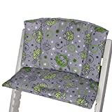 Babys-Dreams Sitzkissen Auflage Sitzkissenset für Stokke Tripp Trapp Hochstuhl (Grau Grün Dicke Eulen§11)