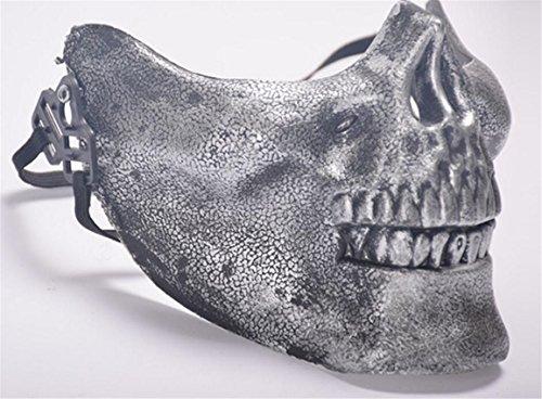 SHUNLIU Totenschädel Horrormaske Schädel Halloweenmaske durchsichtig Horror Totenkopfmaske Totenkopf Maske Karnevalskostüme Faschingsmaske Halloween Horrormaske