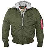 Alpha MA-1 D-Tec Fliegerjacke dark green - S