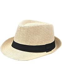 Demarkt Paille Panama Capeline Chapeau Anti UV Pour été Plage Loisirs Voyage Chapeau D'été 1PC