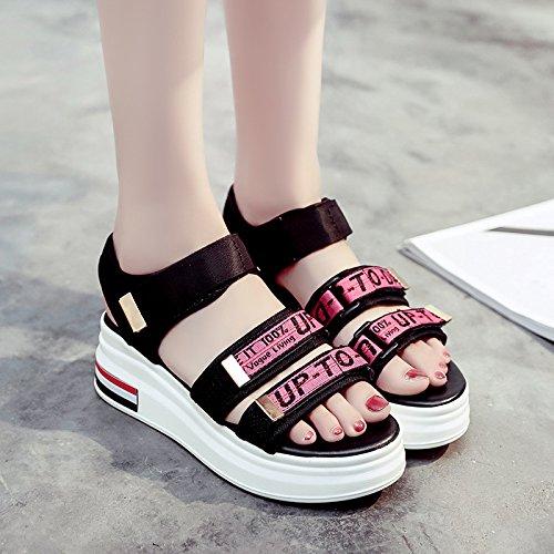 RUGAI-UE Fondo spesso sandali donna estate Calzature Donna Gules