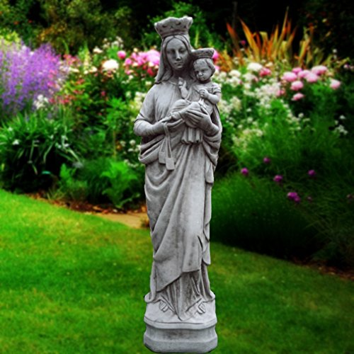 Grande Maria Madonna e bambino-Decorazione da giardino in pietra religioso scultura/statua/
