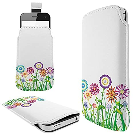 C0712 - Hippie Flower Patch Summer Spring Huawei P8 P9 Honor 7 Huawei P9 Lite Mate S Honor 5X Fashion Pouch portefeuille Poche Coque Case - Tab sortie