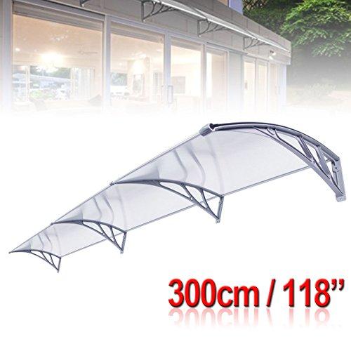Ambienceo DIY porta finestra tenda veranda balcone tettuccio parasole riparo copertura antipioggia con pannello vuoto trasparente
