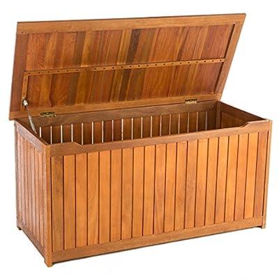 Ultranatura Auflagenbox mit Gasdruckdämpfer, Canberra Serie - Edles & Hochwertiges Eukalyptusholz FSC zertifiziert - 125 x 55 x 61 cm von Ultranatura auf Du und dein Garten
