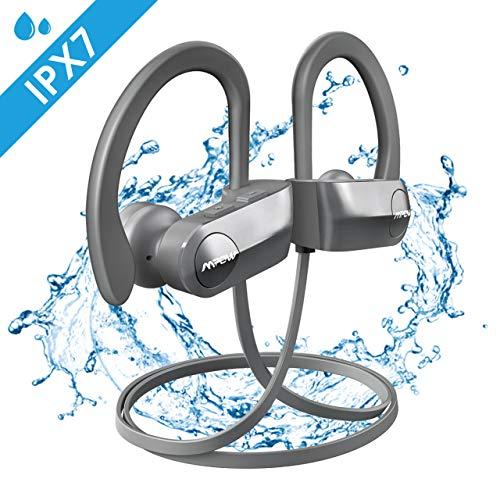 Mpow D7 Bluetooth Kopfhörer Sport, IPX7 Wasserdichte Sportkopfhörer Kabellos, Rich Bass/10-12 Stunden Spielzeit/Bluetooth 4.1, In Ear Kopfhörer Wirless mit Mikrofon für Laufen, Joggen usw