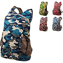 Ultra ligero camuflaje senderismo mochilas mochila de trekking plegable packable mochila mochila bolsa impermeable de nylon deportes al aire libre unisex ciclismo espacioso escuela camping viajar bolsa 15 l