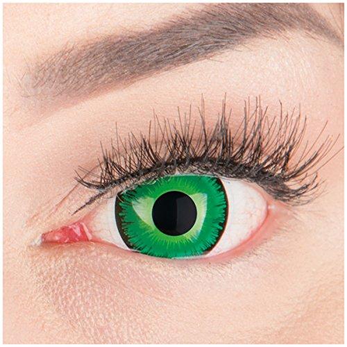 (Farbige Mini Sclera Halloween Kontaktlinsen 'Shining' - 17mm MeralenS Horror Lenses inkl. Behälter - 1Paar (2 Stück))