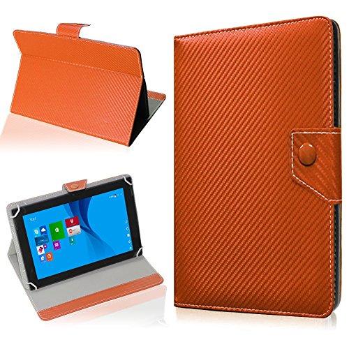 NAUC Tablet Hülle für CSL Panther Tab 10 Tasche Schutzhülle Cover Case Carbon, Farben:Bronze