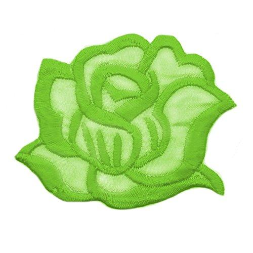 tumundo Aufbügler Bügel-Flicken Aufnäher Bügel-Bild Buchstaben Totenkopf Totenschädel Pirat Blume Rose Applikation, Modell:Modell 23 -