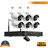 ROBORIX 6 Camera Wireless Wifi IP 8 Channel NVR 1MP 720p HD CCTV Security Camera Kit (Without Hard Drive)