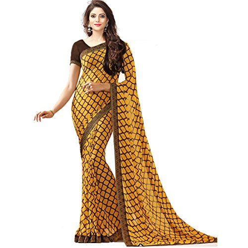 Tagline Women's Clothing Saree Collection in Multi-Colored Georgette Saree With Blouse Piece....