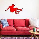 guijiumai Skateboarder Skate Board Sterne Wandaufkleber Junge Abnehmbare Wandaufkleber Wandbild Room...