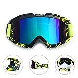 HCMAX Motorrad Brille Mit Abnehmbarer Gesichtsmaske Harley Stil Helm Nebelfest Winddicht Reiten Sonnenbrille