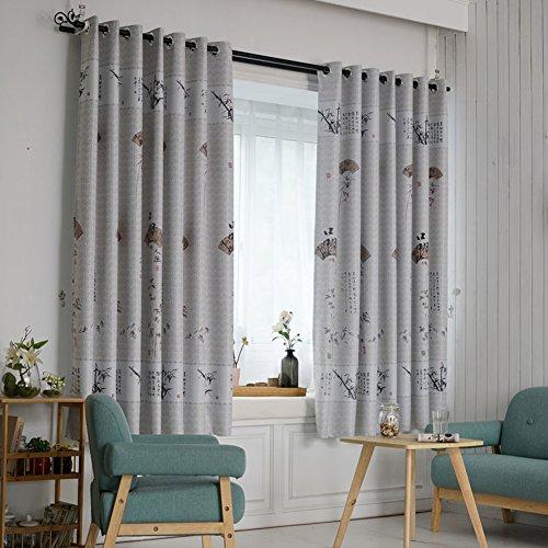 DULPLAY Druck-vorhänge Blackout vorhänge,Zimmer abdunkeln Panels Satz 1 paneele Wärmeisoliert Rauschen reduzieren Für Wohnzimmer -D W250xL200cm(W98xL79inch)