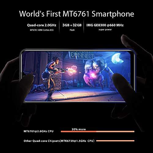 OUKITEL C15 Pro+ Dual 4G Volte Smartphone Débloqué,Écran 6,1 Pouces HD+ Waterdrop,MT6761 Quad-Core 2.0GHz 3Go RAM+32Go ROM,Android 9.0 Téléphone Portable Pas Cher,caméra 8MP+5MP,3200mAh (Étoile bleue)