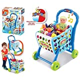 ND TOYS 3 In 1 Kids Supermarket Shopping Cart Hand Induction With Light & Sound