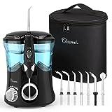 Ovonni -- Irrigador dental profesional, 7 Boquillas intercambiables, 10 Ajustes de presión, 600 ML...